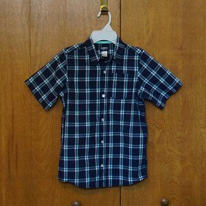 OshKosh Boys Plaid Short Sleeve Button-Front Shirt